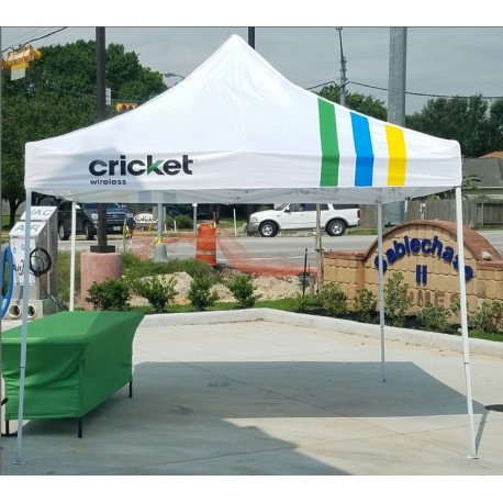 white cricket tent